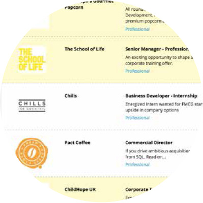 A range of jobs