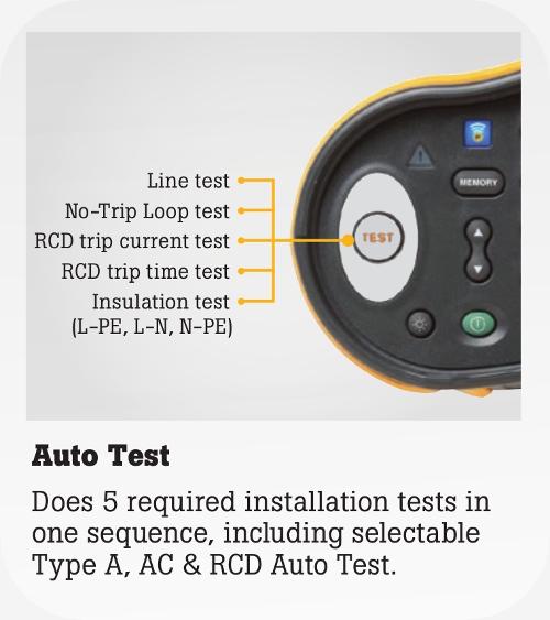 Auto Test Functions on the FLUKE MFT 1664