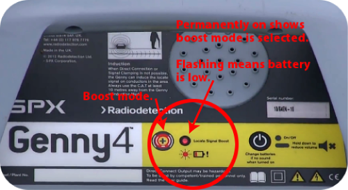 Radiodetection GENNY4 Boost Mode