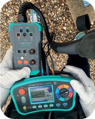 Kewtech EVSE EV Charge Point Tester