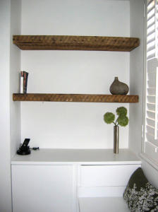 Shelving units in a small house