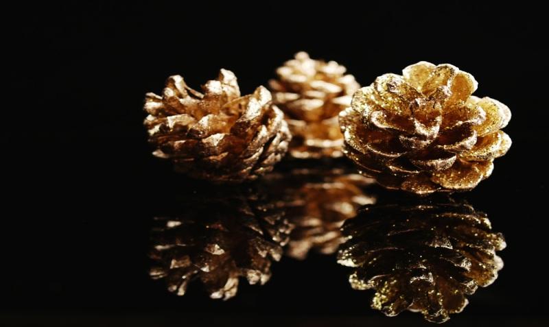 glitter pine cone