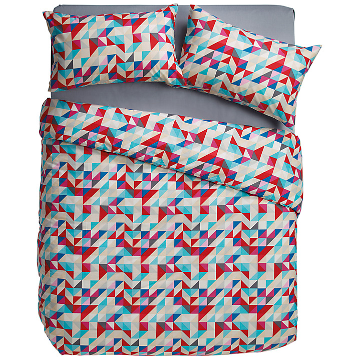 House by John Lewis Mosaic Duvet Cover and Pillowcase Set
