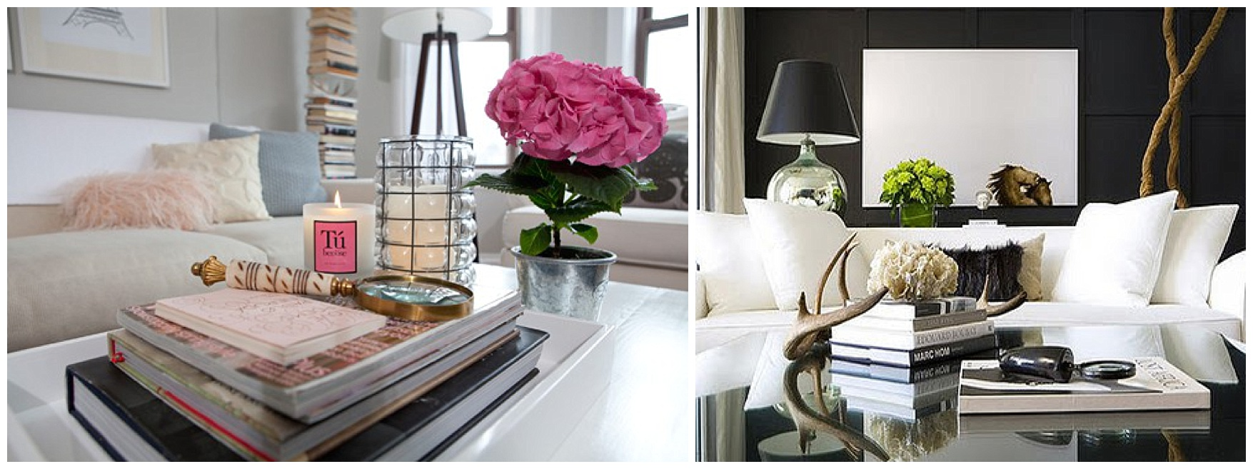 Staging your coffee table books