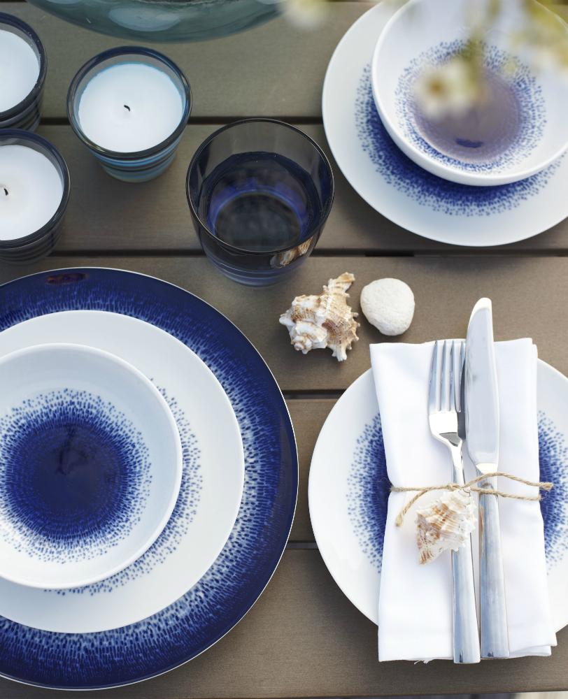 Tesco Blue Rain Dinner Set