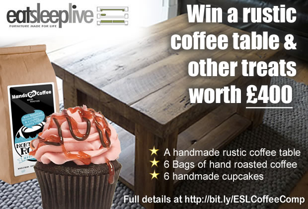 Win a Rustic Coffee Table & Other Goodies Worth £400