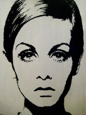 Pop Art Twiggy Painting by Vintage Vibe