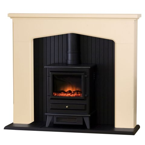 Adam Ludlow Stone Effect Electric Stove Suite