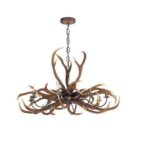 Antler Emperor 8 Light Pendant, Affordable Lighting