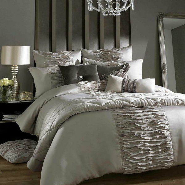 Taupe 'Giana-truffle' bed linen by Kylie Minogue - Debenhams, £75
