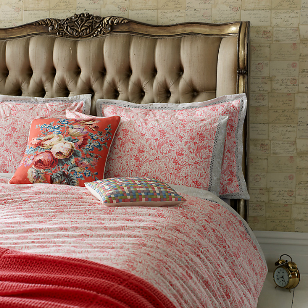 Jigsaw Coral Belle Bedding, John Lewis