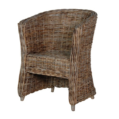 CH Furniture Grey-wash Rattan Tub Chair