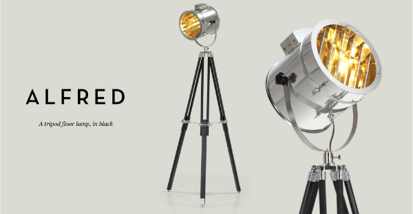 Alfred Tripod Floor Lamp, Made