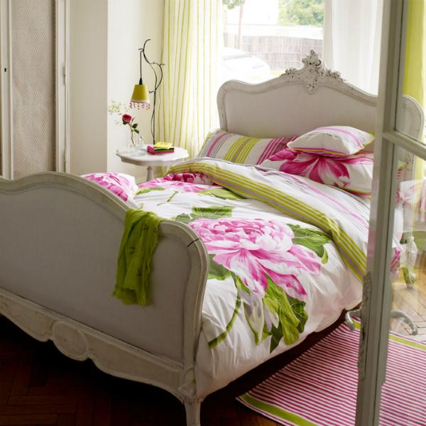 Charlottenberg Printed Floral Bed Linen, Designers Guild