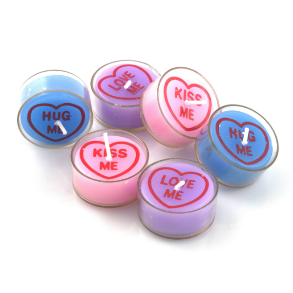 Love Heart Candles - Red5