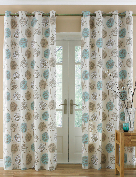 Contemporary Leaf Eyelet Curtains Marks and Spencer