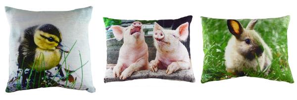Velvet Print Cushions, Cotswold Trading