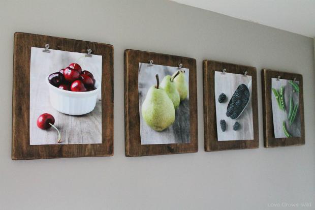 DIY Photo Clip Boards (Source)