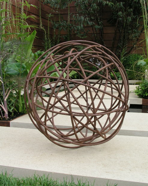 Metal Garden Sphere, Moore Designs