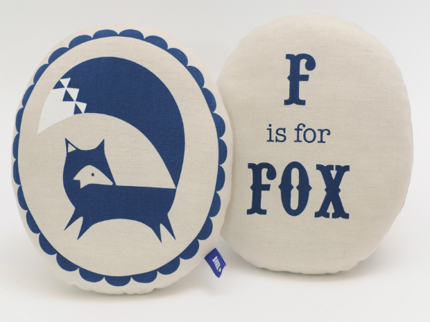 F is for Fox cushion, Scout and Co
