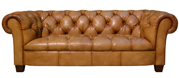 Todd Large Leather Chesterfield Sofa, John Lewis