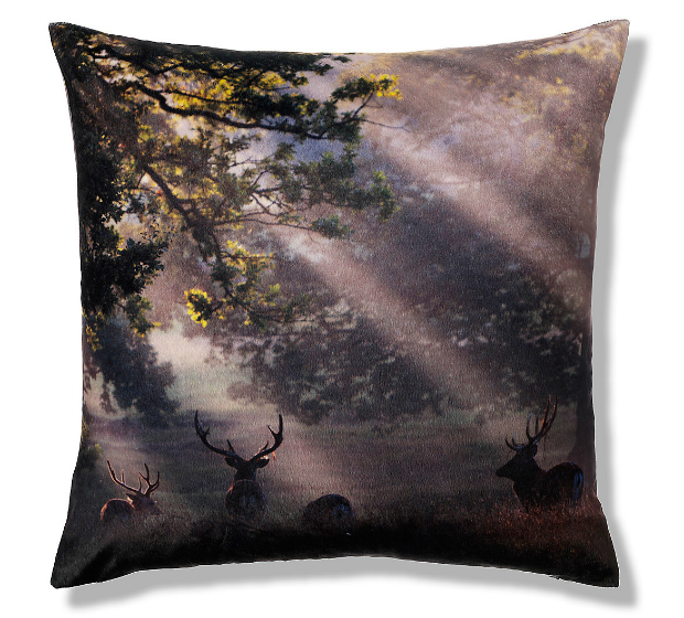 Velvet Stag Cushion Marks and Spencer