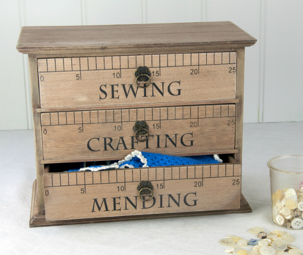 Rustic Craft Mini Chest Of Drawers, Dotcom Gift Shop