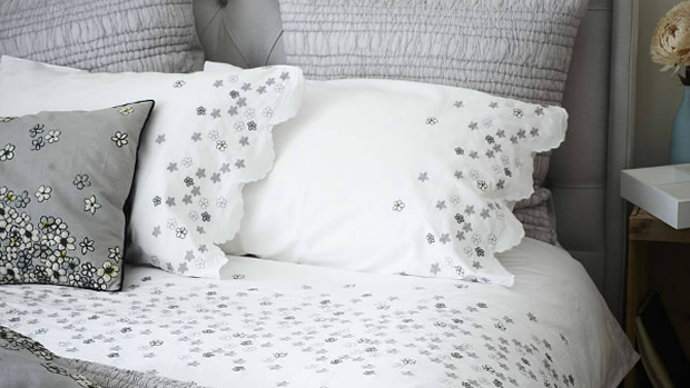 Hanoi Daisy Embroidered Bed Linen - Not on The High Street