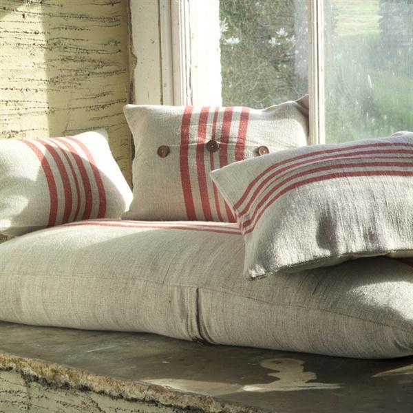 Rustic Linen Cushions, Design Vintage
