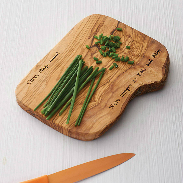 Personalised Wooden Chopping Board, Not on the High Street