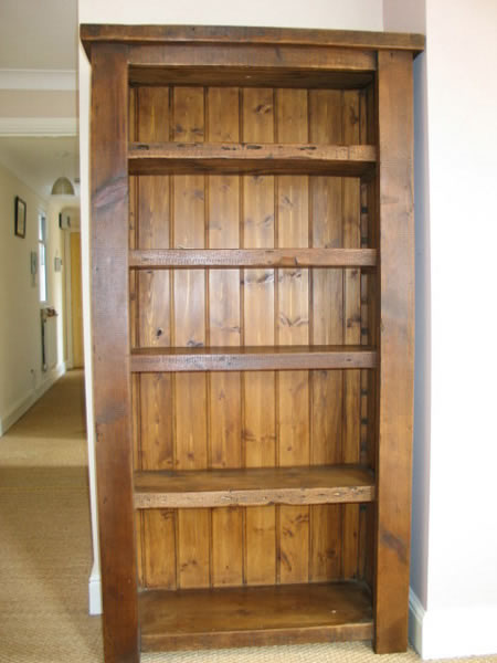 Reclaimed wood bookcase - Eat Sleep live