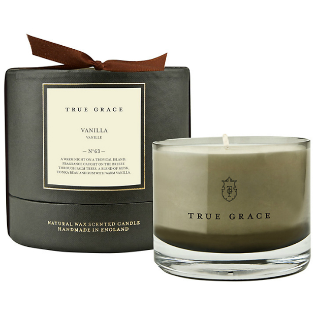 True Grace Manor Vanilla Scented Bowl Candle, John Lewis