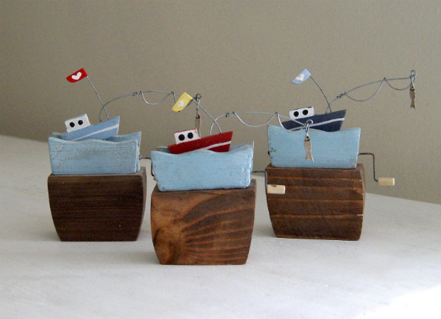 Fishing Boat Upon The Waves. Redlilly £9.95