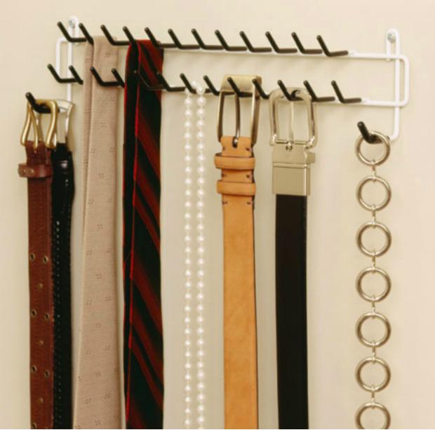 Hook tie & belt rack, organisemyhome.com