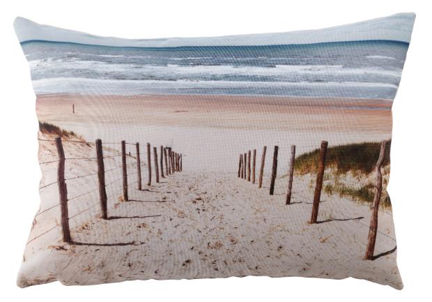 Beach Photographic Cushion, Tesco £8