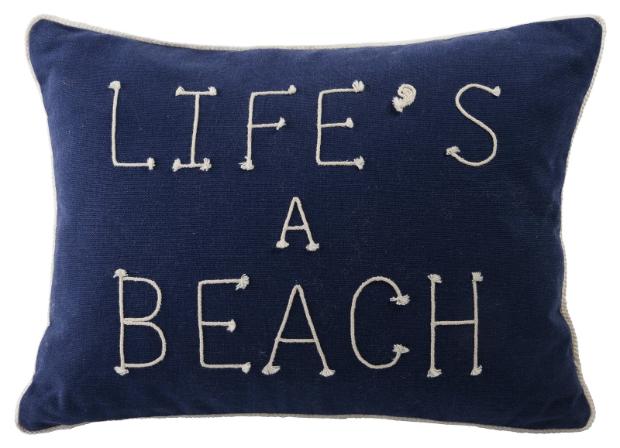 Life's A Beach Cushion, Tesco £10