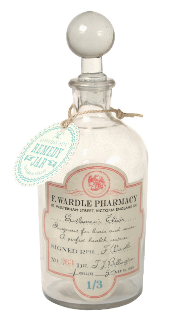 Glass Apothecary Bottle Elixir, dotcomgiftshop