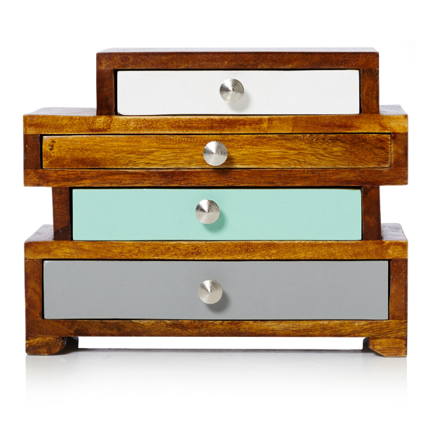 4 Drawer Jewellery Box, Oliver Bonus