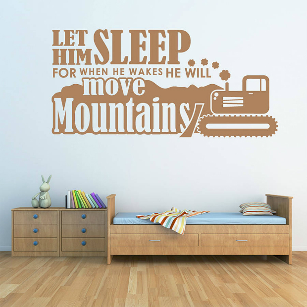 'Let Him Sleep…' Wall Sticker, Not on the High Street