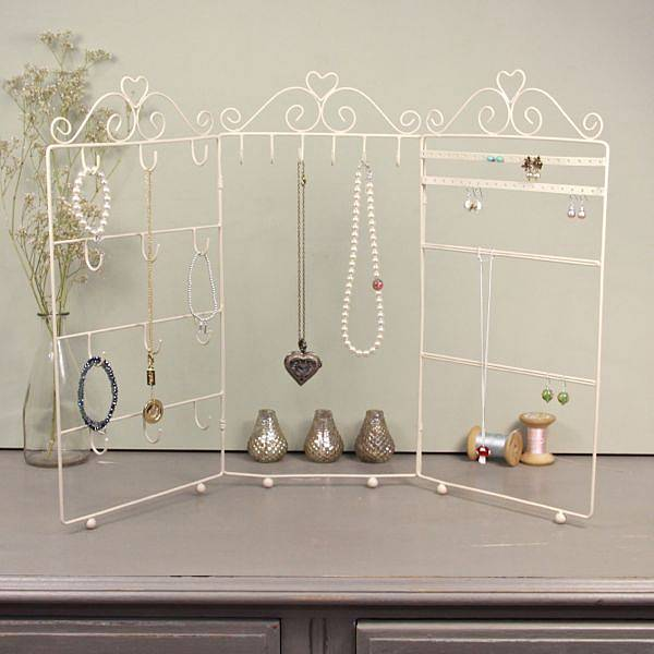 Cream Triple Frame Jewellery Stand, Not on the High Street