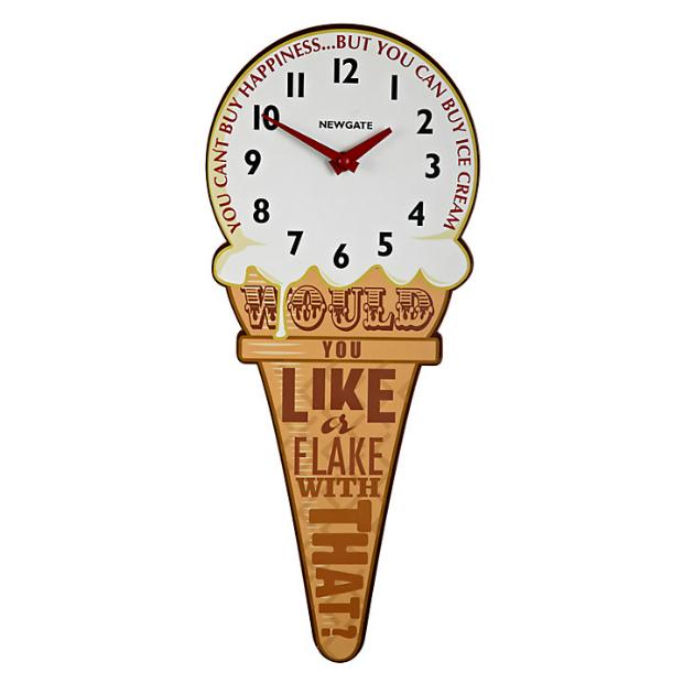 Newgate Ice Cream Cone Clock, John Lewis £35.00