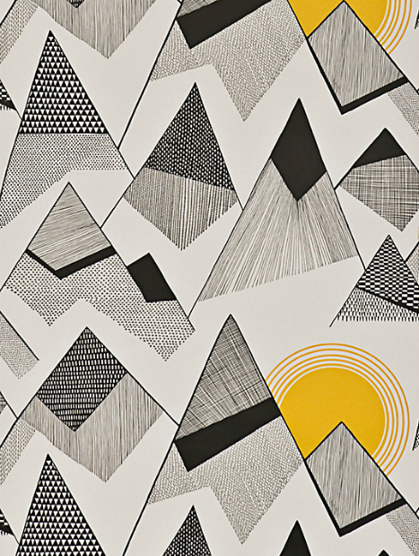 MissPrint Mountains Wallpaper, Sunrise, John Lewis £59.95