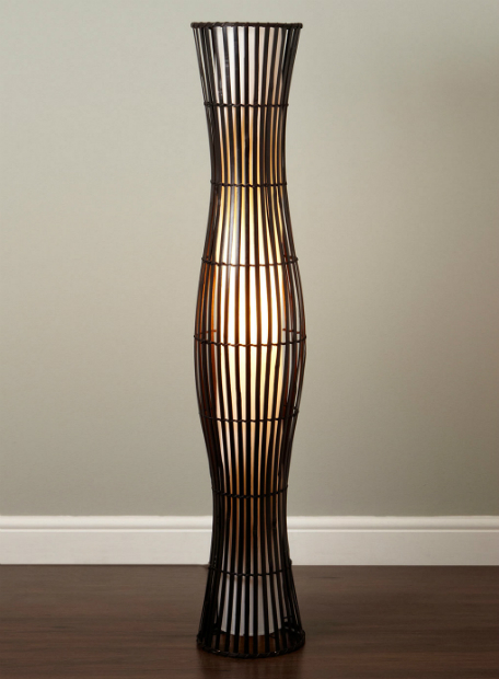 Waisted Wicker Floor Lamp, BHS £80.00