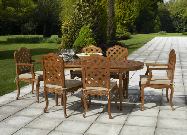 Versailles teak dining table set, Alison at Home £1,295.00