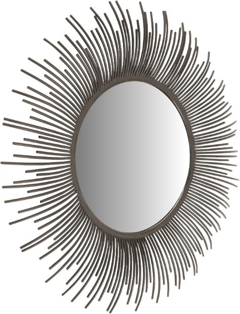 Sunshine Mirror in Dark Grey Metal, Artisanti £142.00