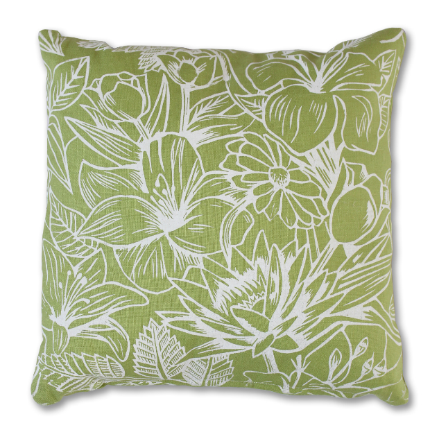 Floral Screenprint Cushion, Great British Designs £45