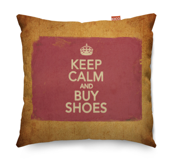 Keep Calm and Buy Shoes Vintage Cushion, KICO Products £19.99