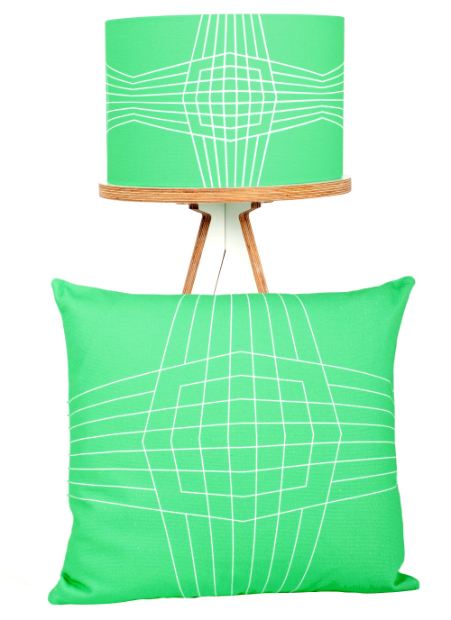 OpBox Cushion & Lampshade, Patternbooth £55.00