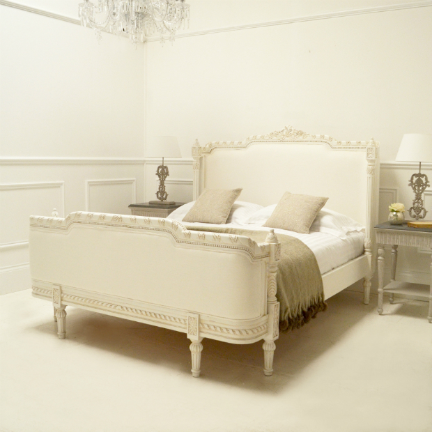 Classical White Valencia Upholstered Bed, Sweetpea and Willow £1495