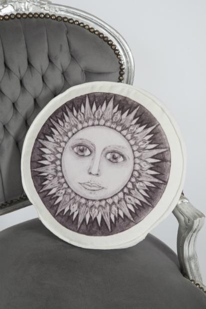 Luxurious Ivory Velvet Sun Cushion, The Unique Seat Company £125.00